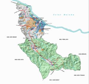 Peta Wilayah Kabupaten Pidie