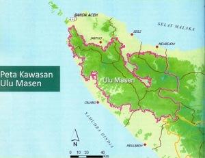 Peta Kawasan Ekosistem Ulu Masen